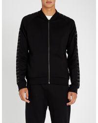 HUGO - Logo-print Sleeve Cotton-jersey Jacket - Lyst