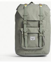 Herschel Supply Co. - . Light Grey Woven Little America Canvas Backpack - Lyst
