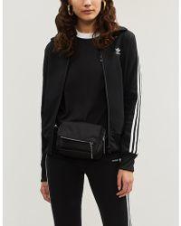 adidas Originals - High-neck Logo-embroidered Satin Jacket - Lyst