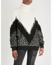 Givenchy - Multi-panel Mohair-blend Turtleneck Jumper - Lyst