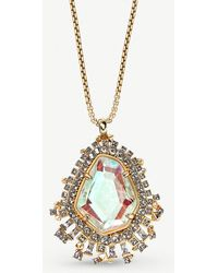 661b4b1bb Kendra Scott - Daenerys 14ct Gold And Dichroic Glass Pendant Necklace - Lyst