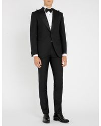 Corneliani - Diamond-patterned Academy-fit 18.24 Microns Wool Tuxedo Suit - Lyst