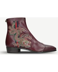 c6862519c57 Lyst - Gucci New Moreau Embroidered Suede Chukka Boots in Green for Men