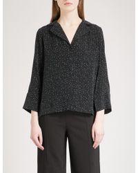 Whistles - Fleck Print Woven Pyjama Shirt - Lyst