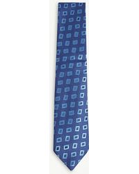 Charvet - Contrasting Square Silk Tie - Lyst