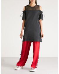 Izzue - Cold Shoulder Cotton-blend Dress - Lyst