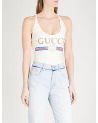Gucci | Logo Swimsuit | Lyst
