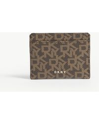 DKNY - Branded Pvc Cardholder - Lyst