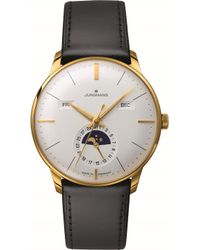 Longines - 027/7202.01 Meister Kalendar Leather And Gold-plated Moon Phase Watch - Lyst