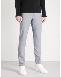 HUGO - Slim-fit Tapered Stretch-cotton Trousers - Lyst