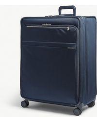 Briggs & Riley - Navy Blue Baseline Xl Expandable Suitcase - Lyst