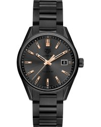 Tag Heuer - War1113.ba0602 Carrera Rose Gold-plated And Titanium Watch - Lyst