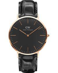 Daniel Wellington - Classic York Rose Gold Watch - Lyst