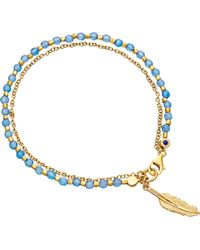 Astley Clarke | Biography Feather 18ct Yellow Gold-plated Sterling Silver Bracelet | Lyst