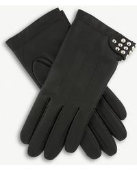 Dents - Stud-embellished Leather Gloves - Lyst