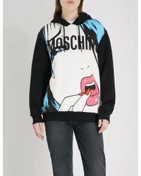 Moschino - Pop Art-print Cotton-jersey Hoody - Lyst