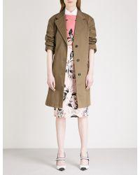 Prada - Angela Cotton Coat - Lyst