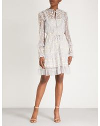 Needle & Thread - Flapper Embroidered Chiffon Dress - Lyst