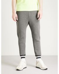 The Kooples - Relaxed-fit Tapered Stretch-jersey Jogging Bottoms - Lyst