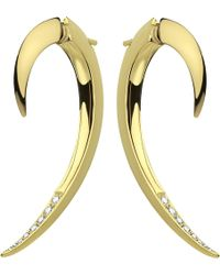 Shaun Leane | Tusk Yellow Gold Vermeil And Diamond Earrings | Lyst