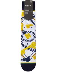 BOY London - St.chaning Key Print Cotton-blend Socks - Lyst