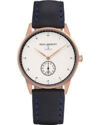 PAUL HEWITT - Signature Rose-gold Plated Watch - Lyst