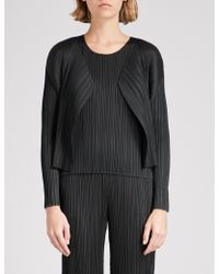 Pleats Please Issey Miyake - Open-front Pleated Jacket - Lyst