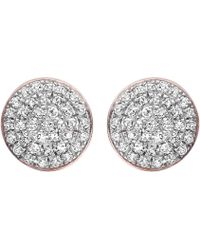 Monica Vinader - Ava 18ct Rose Gold-plated And Diamond Button Stud Earrings - Lyst