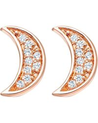 Astley Clarke - Mini Moon Biography Stud Earrings - Lyst