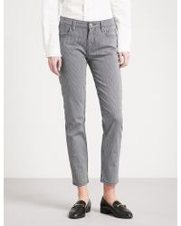 Claudie Pierlot - Striped Skinny Mid-rise Jeans - Lyst