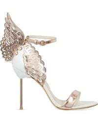 Sophia Webster - Evangeline Winged Leather Sandals - Lyst
