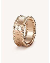 Van Cleef & Arpels - Perlée Signature Rose-gold Ring - Lyst
