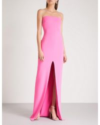 Solace London - Bysha Strapless Stretch-crepe Maxi Dress - Lyst