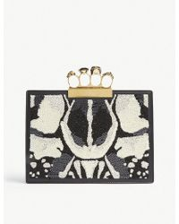 Alexander McQueen - Bug Embroidery Knuckle Duster Clutch - Lyst