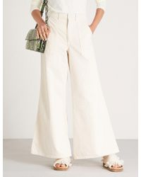 Ganni - Bluebell High-rise Wide-leg Jeans - Lyst