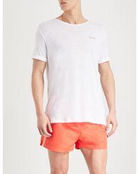 Calvin Klein - Logo-print Linen T-shirt - Lyst