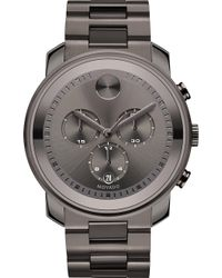 Movado - 3600277 Bold Grey Ion-plated Stainless Steel Watch - Lyst