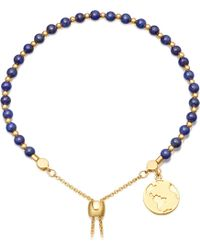 Astley Clarke - Lapis Earth 18ct Gold Plated Sterling Silver Kula Bracelet - Lyst