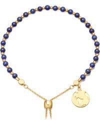Astley Clarke | Lapis Earth 18ct Gold Plated Sterling Silver Kula Bracelet | Lyst