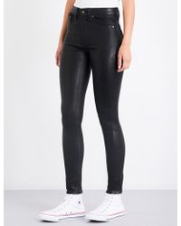 Rag & Bone - Skinny Leather Trousers - Lyst