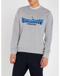 KENZO - Scope Logo-embroidered Cotton-jersey Sweatshirt - Lyst