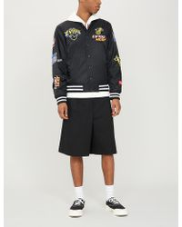 932c017df Obey X Misfits Fiend Club Patch Satin-shell Jacket in Black for Men ...