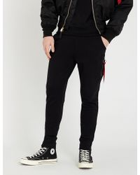 Alpha Industries - Skinny Cotton-jersey jogging Bottoms - Lyst