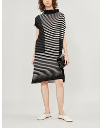 Pleats Please Issey Miyake - Chira-chira Wool-blend Dress - Lyst