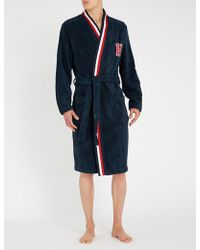 Tommy Hilfiger - Logo Cotton-terry Dressing Gown - Lyst