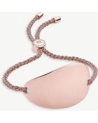 Monica Vinader - Nura 18ct Rose-gold Vermeil Large Friendship Bracelet - Lyst