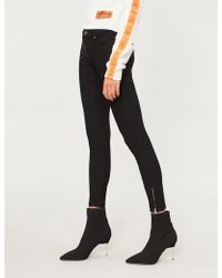 Forever Unique - Skinny High-rise Stretch-denim Jeans - Lyst