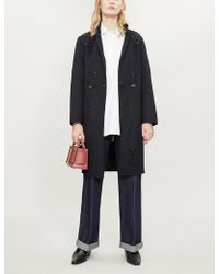 Sandro - Lumiere Embellished Wool-blend Coat - Lyst