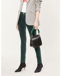 AG Jeans - High-rise Skinny Velvet Trousers - Lyst