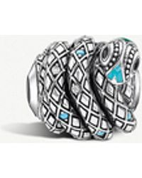 Thomas Sabo - Snake Sterling Silver Karma Bead - Lyst